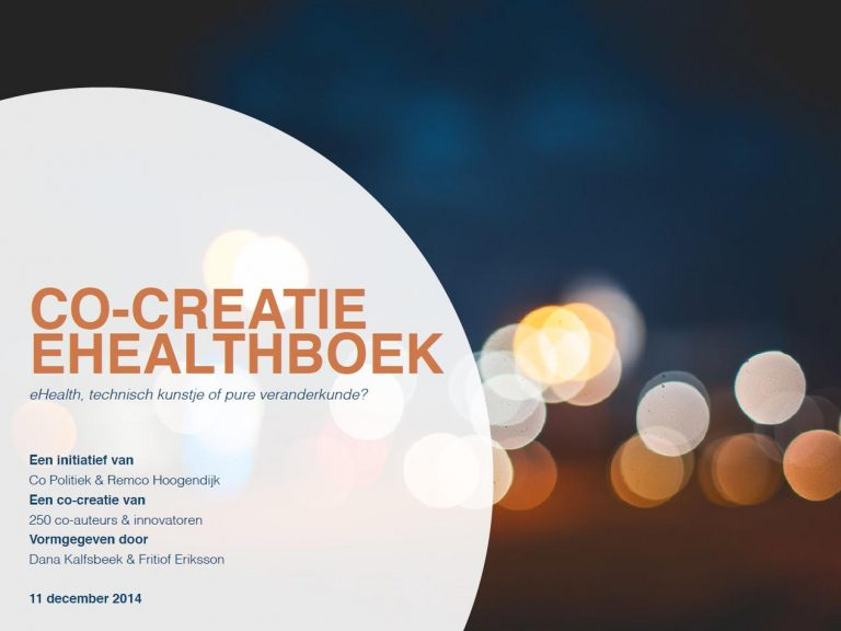 Co-creatie eHealthboek