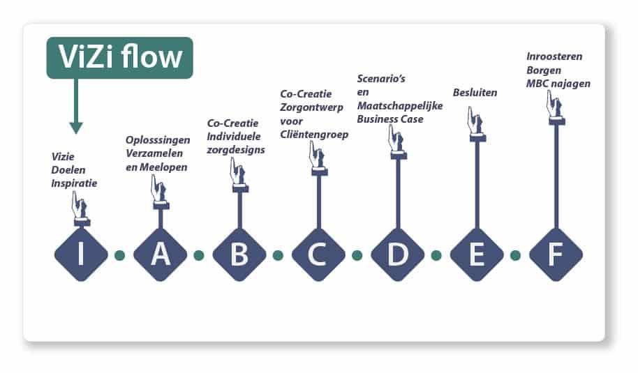 Vizi Flow schema eHealth ontwikkeling